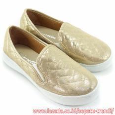 Lunetta Sepatu Anak Perempuan Slip On Luxe FCL - Emas