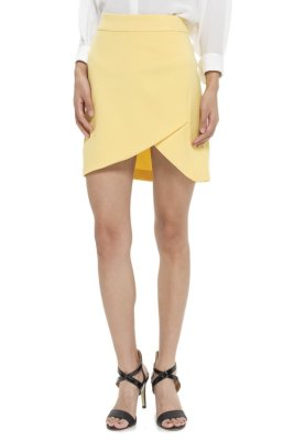 LZD Skirt With Slit Detail - Yellow