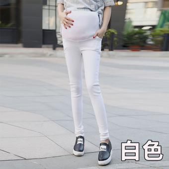 9df32a9c6fe51 Many Colors Choose Warm Fitness 2016 New High Elastic Maternity Pants  Spring Care Belly Pencil Pants