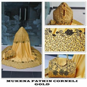 Marchel mukena fathin corneli - Gold (tas mutiara)