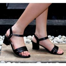 Marlee AE-06 Sendal Open Toe Buckle Strap - Black