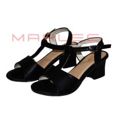 Marlee ATM-10 Mid Block Heels Shoes - Hitam