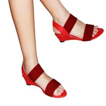 Marlee BB-15 Wedges Sandal Merah
