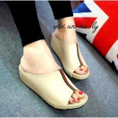 Marlee DK-10 Wedges Sandal Wanita - Cream
