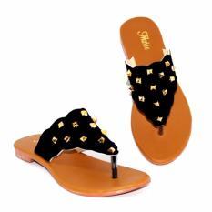 Marlee DN-23 Flip Flop Sandal Flat Wanita - Hitam