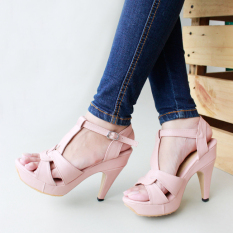 Marlee Hells T-Strap Blush Pink