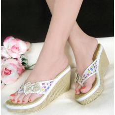 Marlee RD-01 Sandal Wedges Pita - Putih