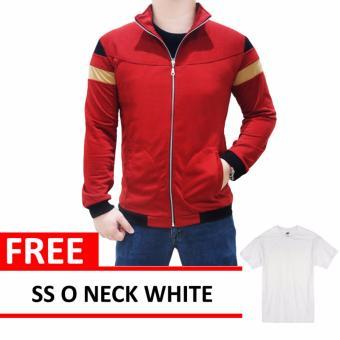 Mazzo Jacket Black Free SS O Neck White