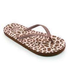 Megumi Leopard - Sandal Jepit - Cokelat