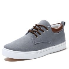 Men Canvas Shoes Casual Shoes 2017 New Fashion Low Increased Breathable Shoes Men Lace Up Shoes - Intl