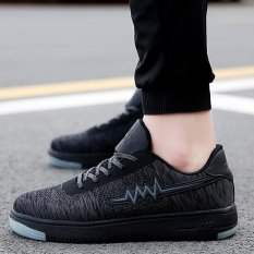 Men Casual Breathable Basket Soft Driving Sport Comfortable Walking Shoes (Black) - INTL