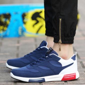 Men Casual Shoes For Men Trainers Walking Shoes Fashion Shoes Male (Blue)