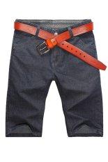 Men Korean Slim Short Jeans (Indigo)