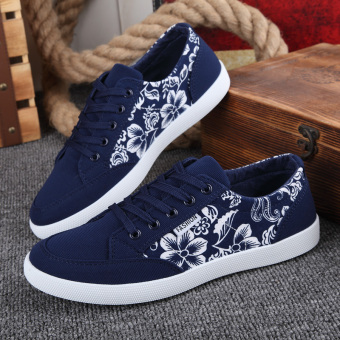 Men Korean Version Of The Trend Of Casual Canvas Shoes Breathable Sports And Leisure Shoes Models .
