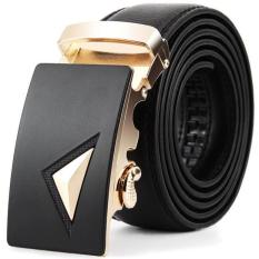 Men Leather Automatic Buckle Belts Fashion Waist Strap Belt Waistband - Intl