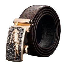 Men Luxury Crocodile Genuine Leather Automatic Belt MBT08912-2 Coffee - Intl