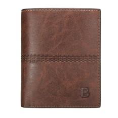 Men PU Leather Bifold Wallet ID Card Holder Coin Bag Bifold Purse Clutch Handbag Coffee - Intl