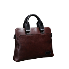 Men S Casual Handbag Satchel Bag Computer Bag Bag Trend PU Male Crazy Horse Diagonal