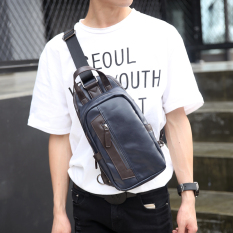 Men Single Shoulder Crossbody Bag Small Chest Bag Men Korean Bag Outdoors Sports Leisure Backpack Men's Handbag Bag -Black