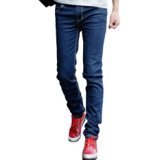 Men Skinny Straight Legs Pants Slim Fit Jeans