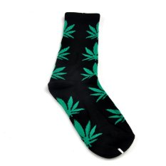Men Women Leaf Cotton Ankles High Sock Casual Socks (Green)