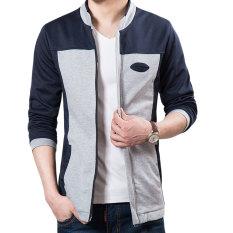 Men's Autumn Jacket Collar Large Size Sweatshirts Cardigan Jacket - Intl