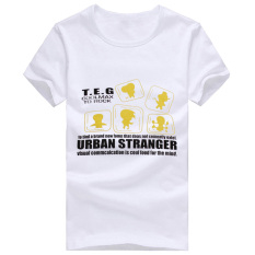 Men's Boys T-shirts Animals Printed Cheap Summer White