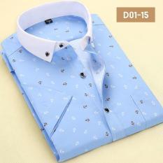 Men's Business Casual Floral Shirt Art Minimalist Style Shirt M-4XL Easy Care Short Sleeved Shirt -intl - Intl