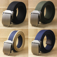 Men's Canvas Belt Casual Waistband Anolly Buckle - Intl