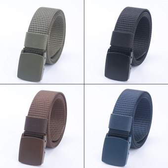 Men's Canvas Belt Casual Waistband Simple Buckle - Intl
