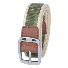Men's Casual Belt Braided Canvas Waist Belt (Green1)