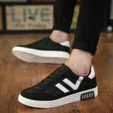 Men's Casual Canvas Shoes Breathable Black
