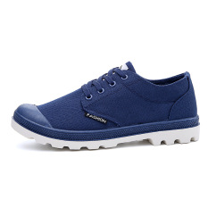 Mens Casual Canvas Shoes Low Cut Sports Outdoor Shoes (Blue) (Intl)
