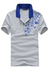 Men's Cotton National Wind Sports Suit (Grey) (Intl)