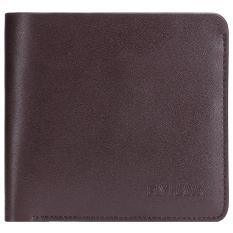 Mens Genuine Leather RFID Blocking Wallets Mens Biford Wallets Coffee