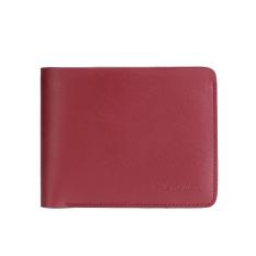 Mens Genuine Leather RFID Blocking Wallets Mens Biford Wallets Red - Intl