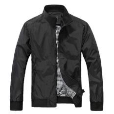 Men's Jackets Fashion Casual Jacket Coats Collar Slim Short Thin Coat (Intl)