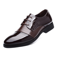 Men's Leather Shoes Business Leather Shoes (Brown) (Intl)