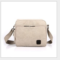 NEW Men's Multifunction Canvas One-shoulder Business Casual Bag Beige