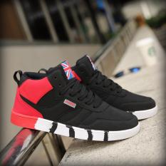 Men's Patchwork Fashion Sneakers (Black and Red) - intl