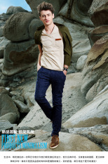 Men's Short Sleeve T-shirt V Neck Slim Casual Summer Style Young Fashion - Intl