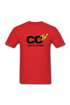 Men's THE CCTV Personalize T-Shirt For Red