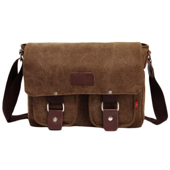 "Men's Vintage Canvas School Satchel Shoulder Messenger Bag 11"" Laptop Bag Small (Intl)"