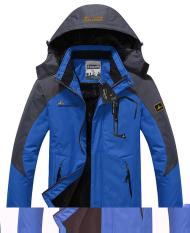Men's Waterproof Ski Jackets Fleece Windproof Sportswear Blue XXL (Intl)
