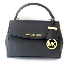 Michael Kors Ava Extra-Small Saffiano Leather Crossbody - Black