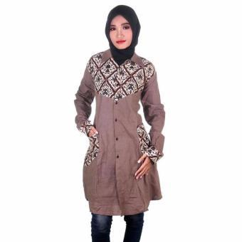 Mila Style Baju Batik Blouse / Blus Tunik Varian Syafa - Multicolor