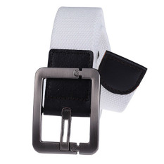 Military Style Unisex Single Grommet Adjustable Canvas Belt Web Belt Woven Belt White 120cm - Intl