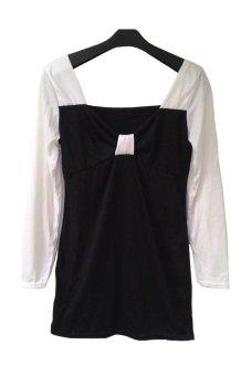 Miss Scarlet BGU 2116 hitam + putih
