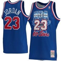 Mitchell & Ness Basketball Jersey Men's Hardwood Classics Micheal Jorden Chicago Bulls #23 NBA 1993 All-Star Game Basketball High Quality Sports Authentic American Alternate Blue S - intl