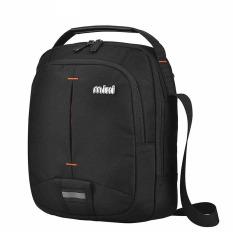 MIXI Men's Fashion Casual Crossbody Bag Sports Sling Bag Trendy Black- INTL